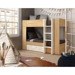 Litera madera + cajón opcional